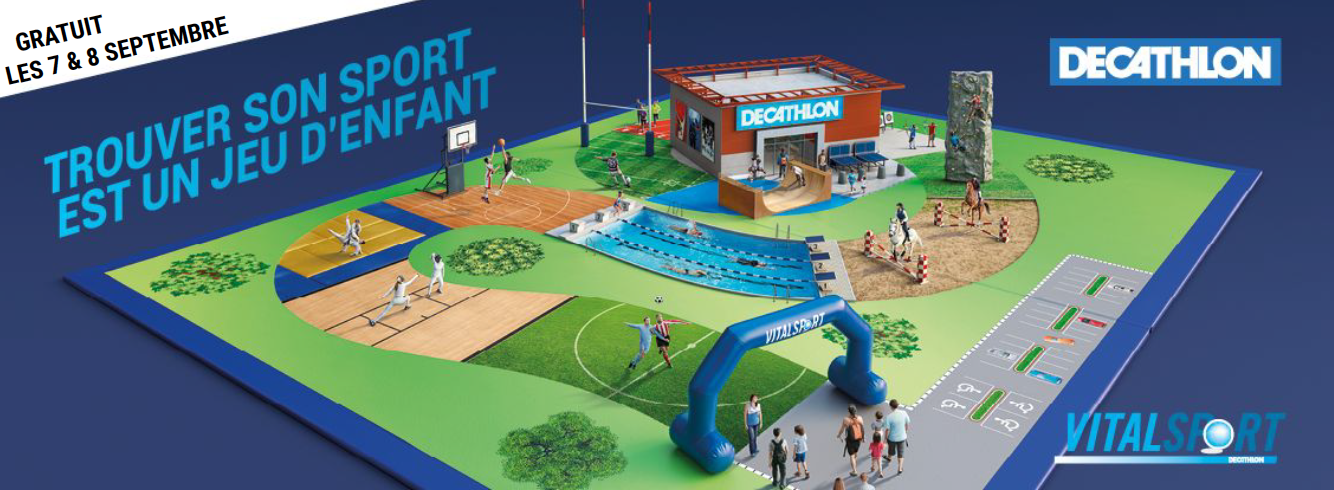 Rendez-vous les 7 et 8 septembre à Decathlon Epagny pour le Vitalsport 2019 !