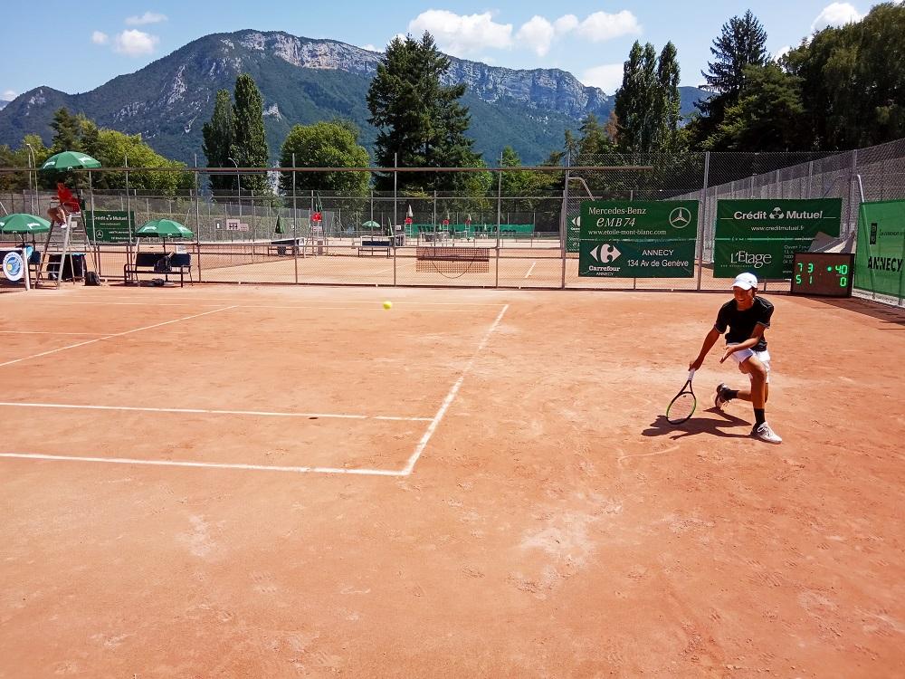 Edouard Aubert lors de la 1/2 finale