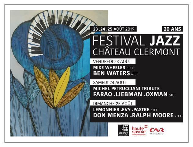 20 ans de jazz au Château de Clermont en Genevois du 23 au 25 août 2019