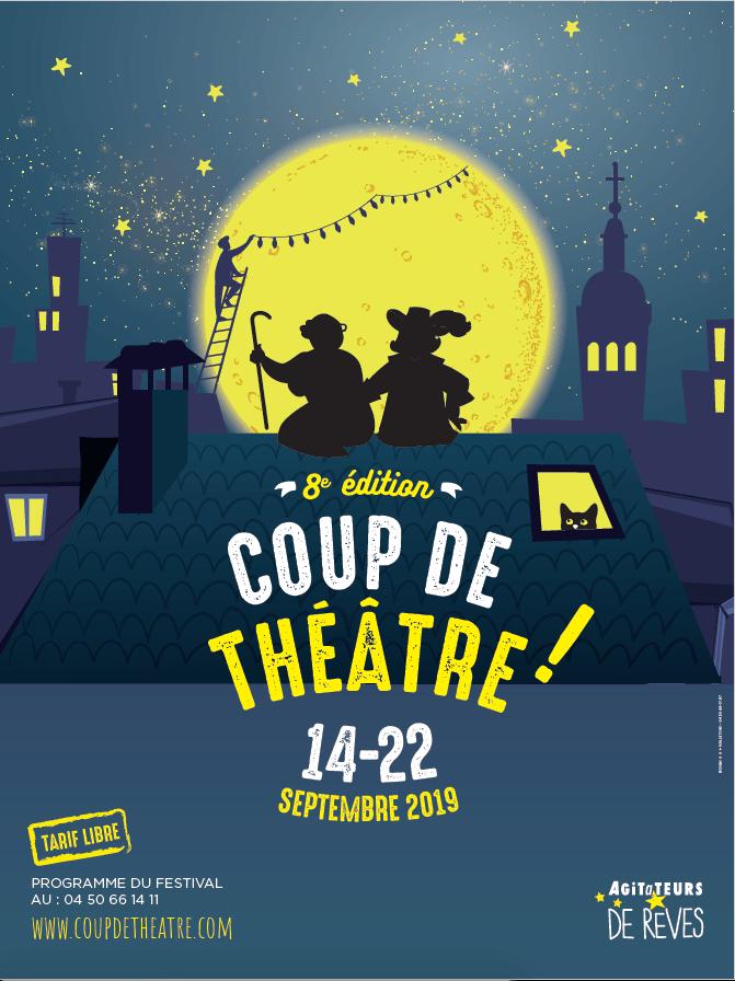« Coup de théâtre » du 14 au 22 septembre 2019 dans le très Grand Annecy