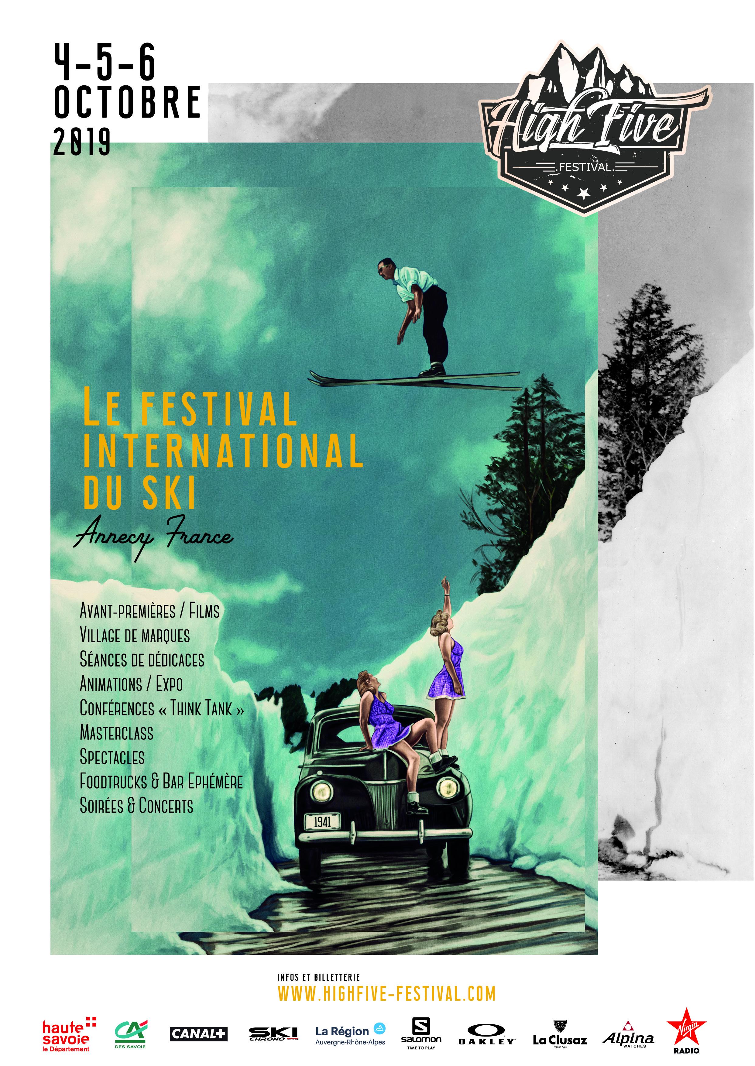 L'affiche du High Five Festival 2019