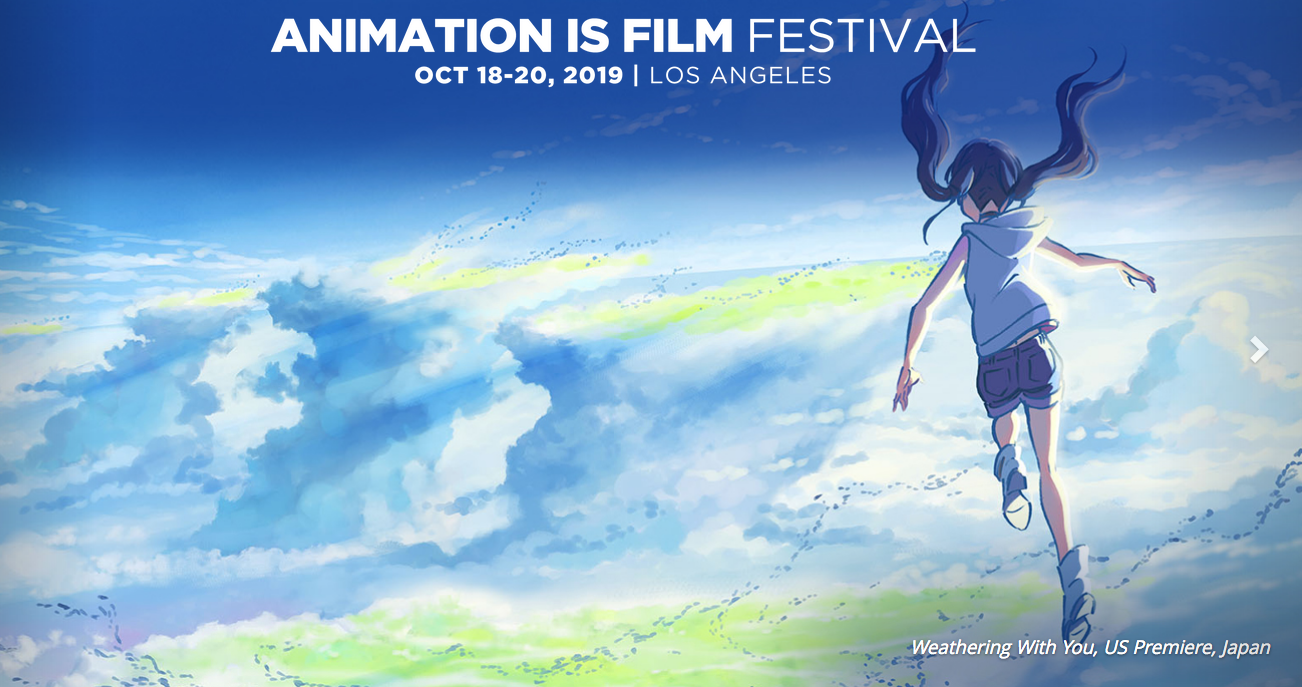 """Animation is Film"" - Los Angeles 18-19-20 octobre 2019 /   Weathering With You, US Premiere, Japan"