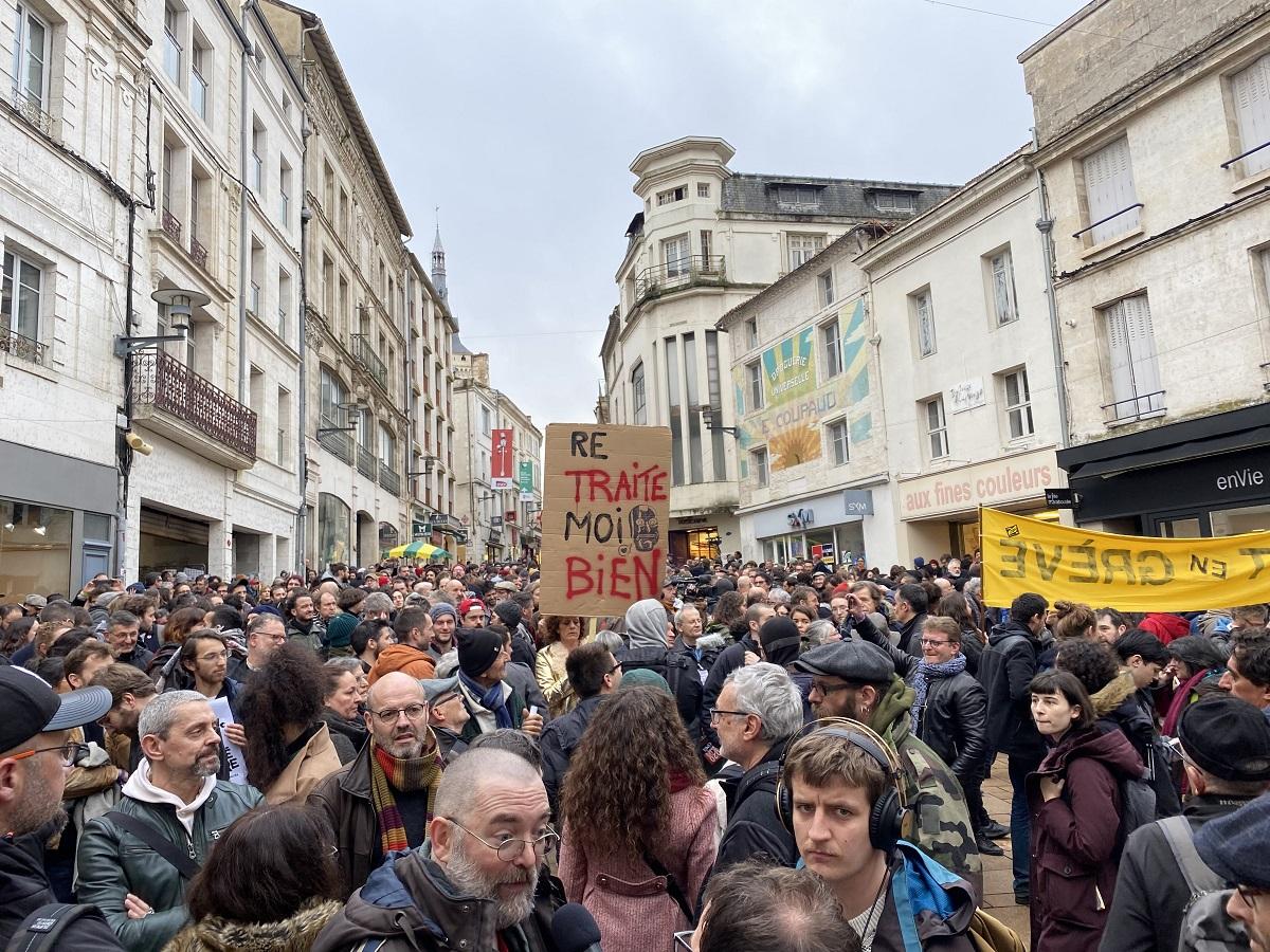Le débrayage à Angoulême ©DR