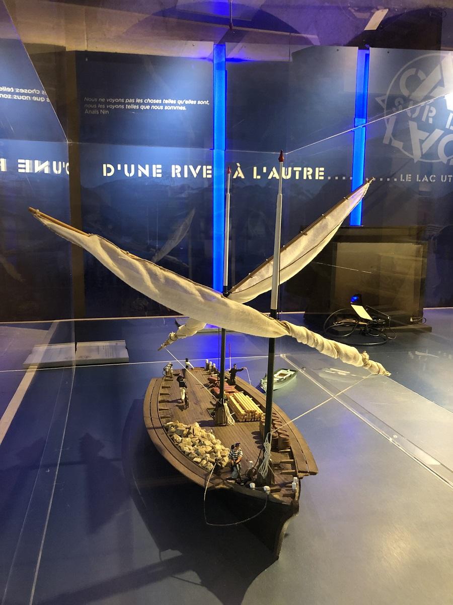 L'Espérance exposée à Cap sur le Lac.Musée Cha^teau d'Annecy