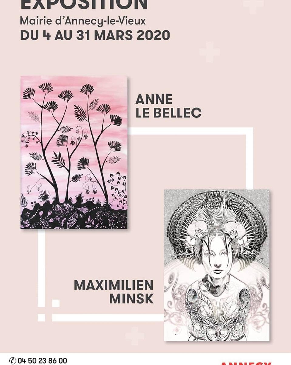 Exposition Anne le Bellec // Maximilien Minsk mairie d'Annecy-le-Vieux