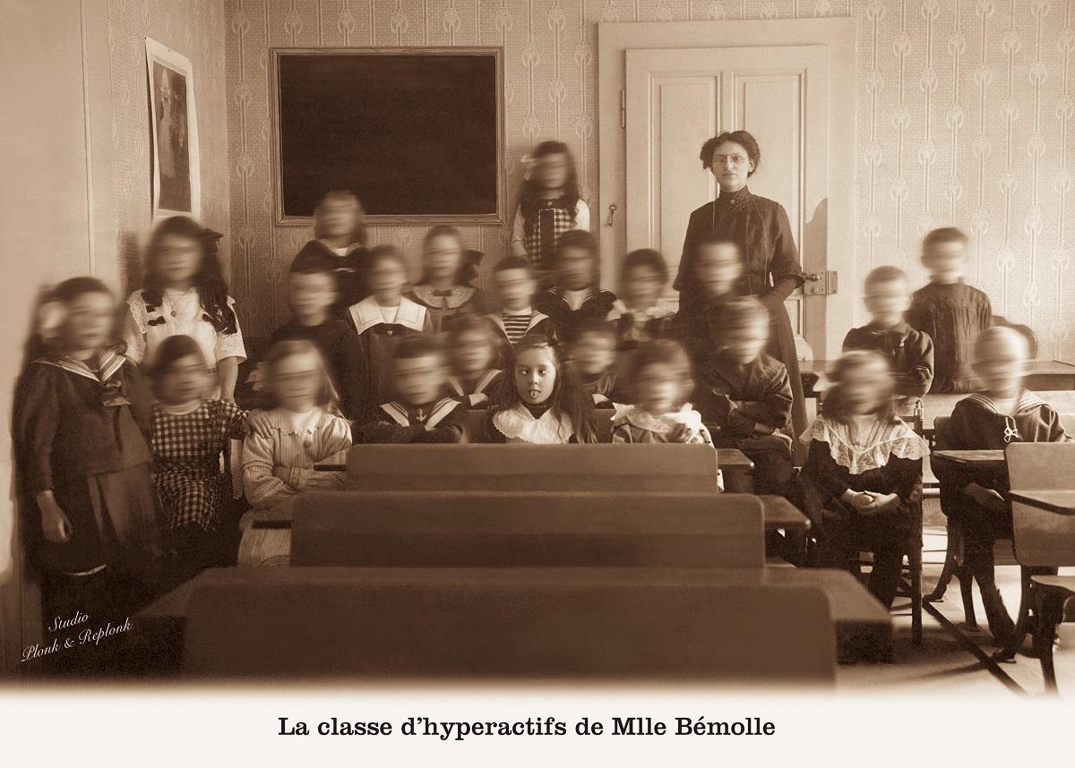"""Lire, écrire...et compter afin d'éviter les effets de """"La classe d'hyperactifs de Mlle Bémolle"""" illustrés par Plonk et Replonk"""