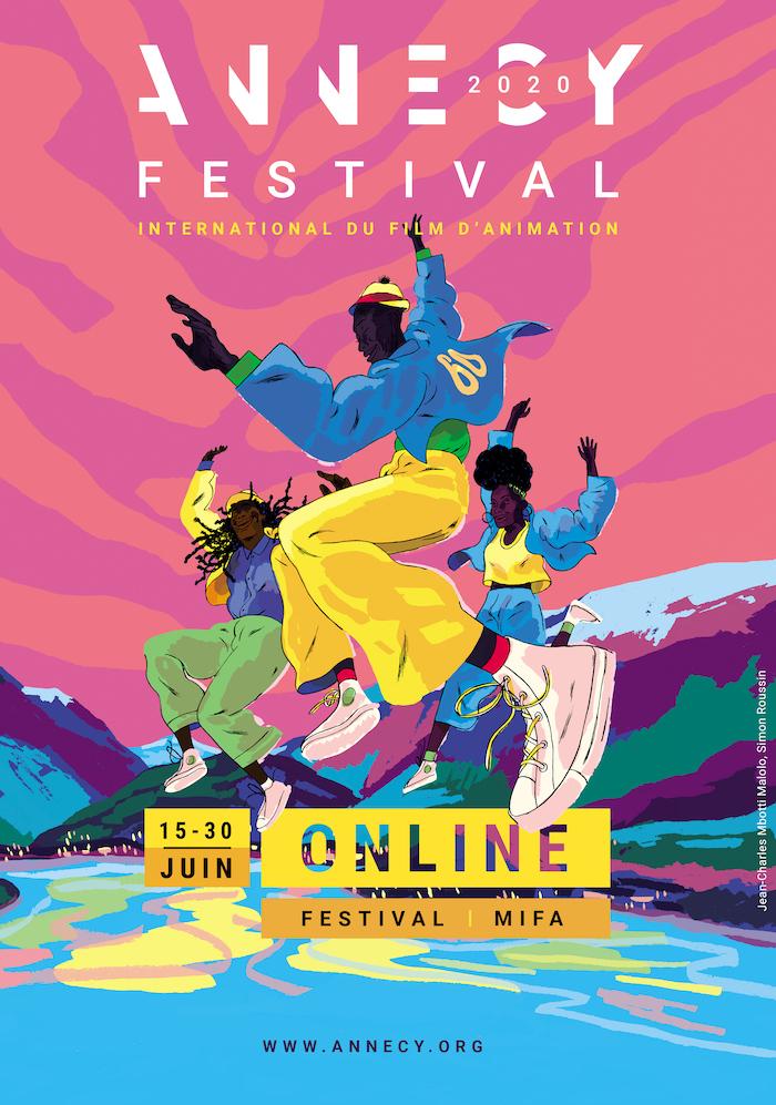 affiche Annecy Festival international du film d'animation du 15 au 30 juin 2020 ©DR