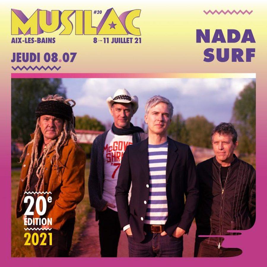 Le groupe Nada Surf sera présent pour l'édition 2021 du festival Musilac ©DR