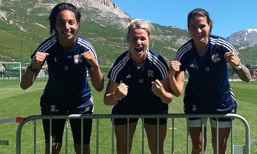 Pas de soucis pour la motivation : Sarah Bouhaddi, Amandine Henry et Dzsenifer Marozsan ©DR