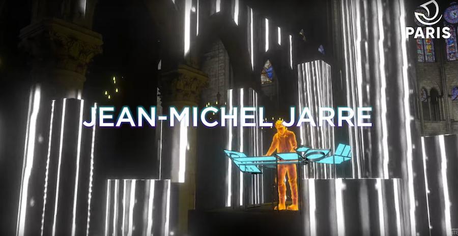 JEAN-MICHEL JARRE donne un concert virtuel dans la cathédrale Notre-Dame de Paris le 31 décembre 2020 ©dr