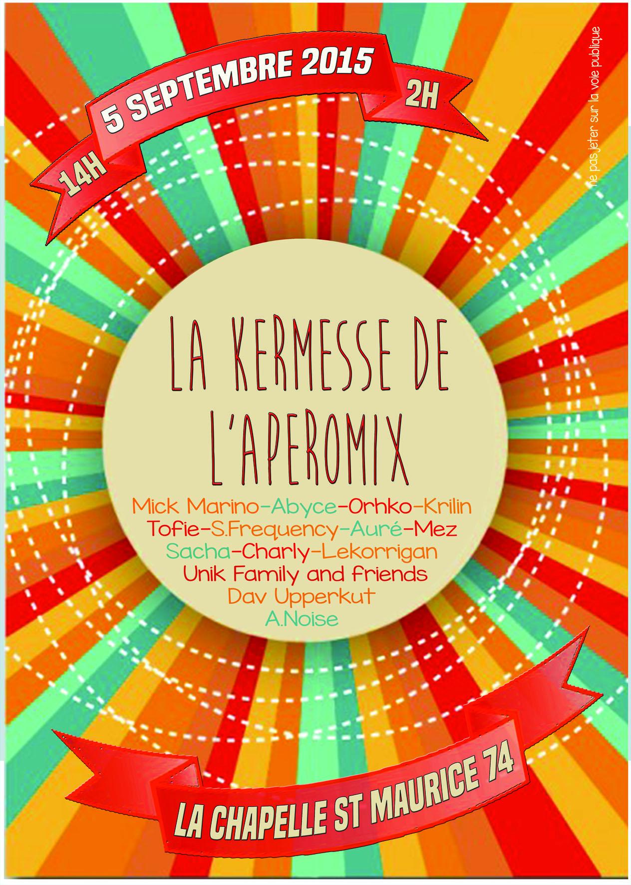 Aperomix NEEFA à la Chapelle St Maurice le 5 septembre 2015