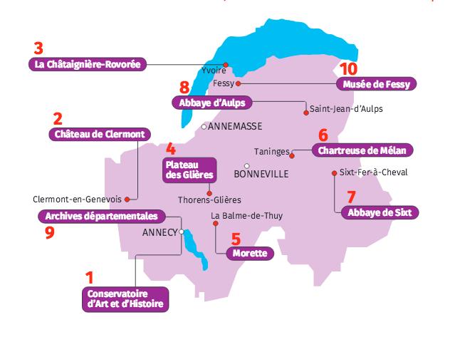 Journées Européennes du Patrimoine : à Genève les 12 et 13 septembre, en Savoie et Haute-Savoie le 19 et 20 septembre