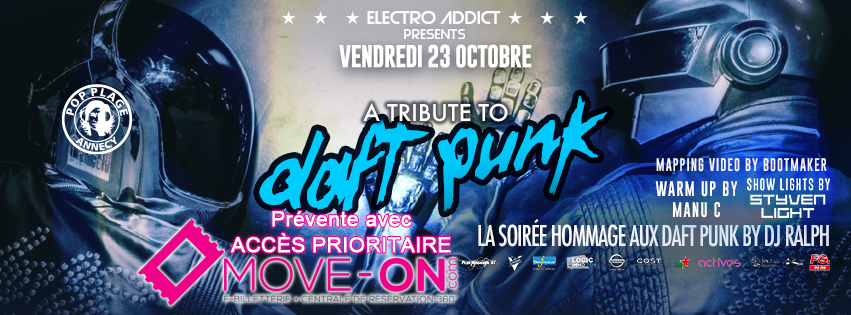 """""""Tribute To Daft Punk"""" Live au POP PLAGE le vendredi 23 octobre"""