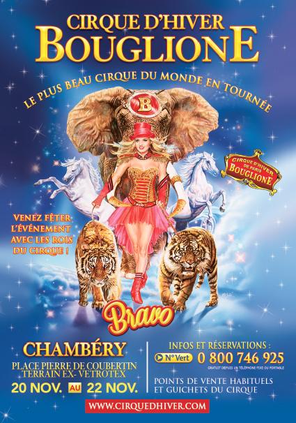 """A GAGNER 4x4 Places pour le """"Cirque d'Hiver Bouglione"""" le vendredi 20 novembre 2015"""