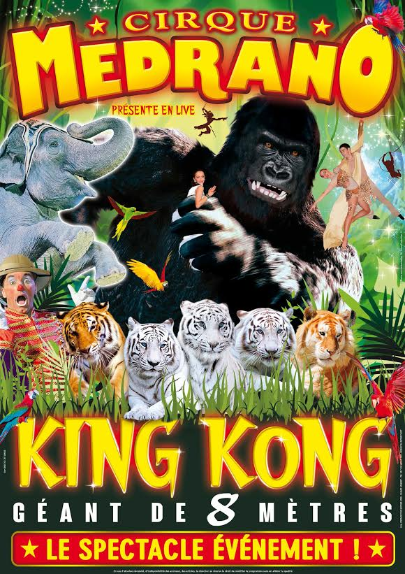 King Kong-Le Roi de la jungle / Copyright Cirque Medrano