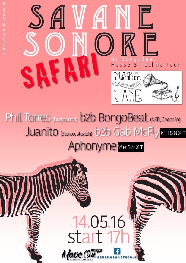 SAVANE SONORE, le Samedi 14 Mai 2016 chez Mamie Jane à Aix-les-Bains