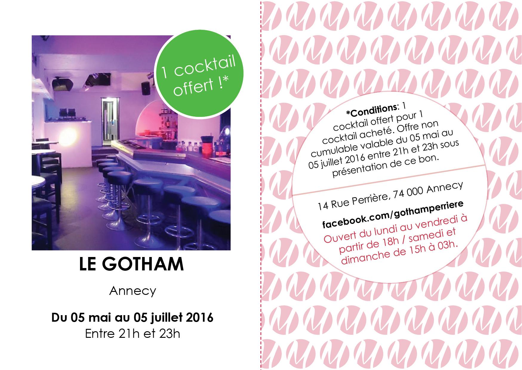 Le Gotham, le Cocktail Bar à Annecy fait un carton plein !