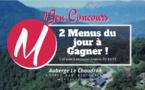 #JEUCONCOURS / 2 menus du jour à gagner @AubergeLeChaudron Montsapey  !