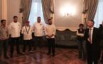 La galette des rois avec les rois de la galette des Savoie !