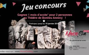 #JEUCONCOURS : GAGNEZ 1 MOIS D'ACCÈS* pour 2 personnes au Théâtre de Bonlieu Annecy !
