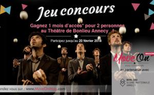 #JEUCONCOURS : GAGNEZ 1 MOIS D'ACCÈS* pour 2 au Théâtre de Bonlieu Annecy !