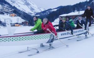 Découvrez le Snow Dragon Boat : un bateau sur une piste de ski !