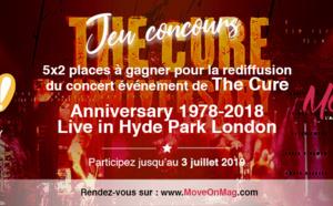 #JEUCONCOURS / 5x2 places à gagner pour la rediffusion du concert des 40 ans de The Cure au Pathé Annecy !