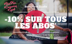 COUPONING : -10% sur tous les abonnements chez Body Form Coaching Annecy