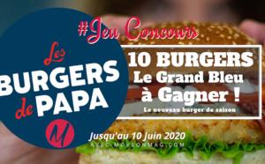 """#JEUCONCOURS : 10 burgers """"Le Grand Bleu"""" à Gagner avec Les Burgers de Papa !"""