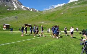 Lyon, l'équipe de Football Féminin rugit de bonheur à Tignes