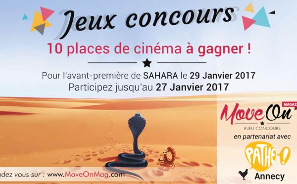 JEU CONCOURS : 10 places de cinéma pour l'avant-première de SAHARA !
