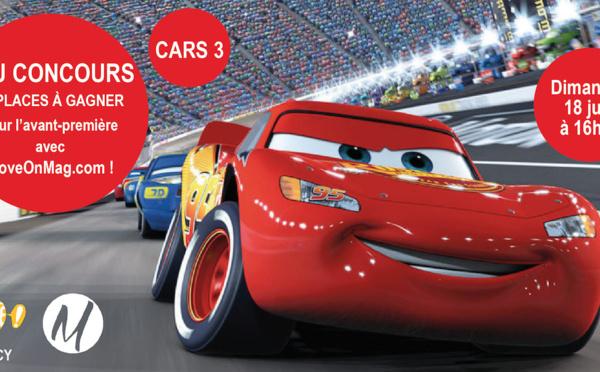JEUX CONCOURS : 10 places à gagner pour l'avant-première de Cars 3