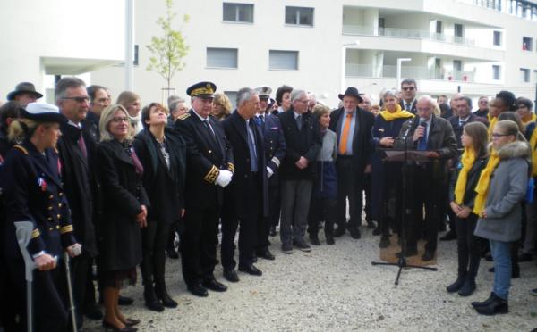 Annecy. Inauguration de la stèle en l'honneur de Suzanne Noël ce 11 novembre 2018
