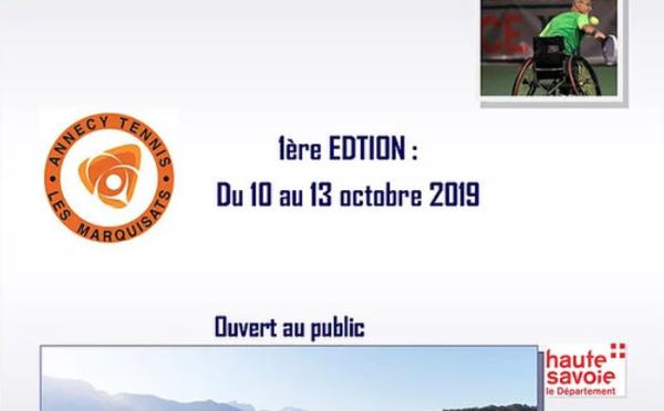 Tournoi Paratennis  Les Marquisats Annecy les 11/13 octobre 2019
