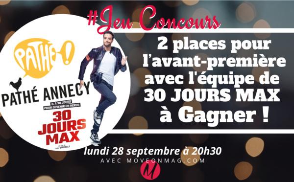 #JEUCONCOURS / 2 places pour l'avant-première avec équipe de 30 JOURS MAX !