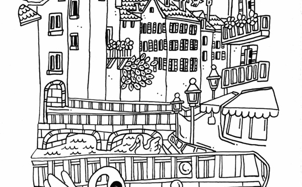 Le Reporter Coloriage, et si on coloriait Annecy?!