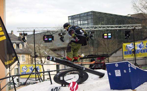 La 1ère compétition urbaine de ski et de snowboard freestyle en France a eu lieu à Chambéry