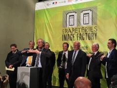 Inauguration des Papeteries Image Factory à Cran-Gevrier